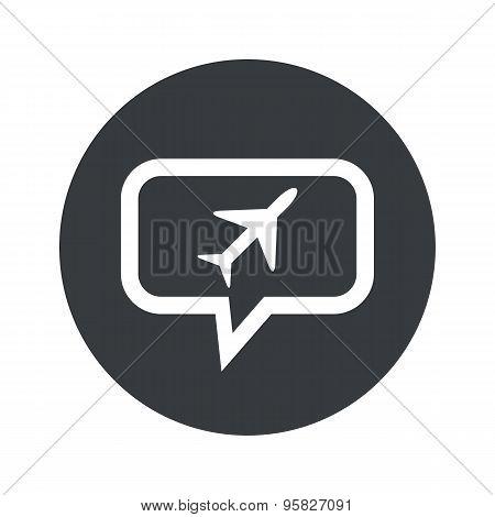 Round plane dialog icon