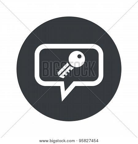 Round key dialog icon