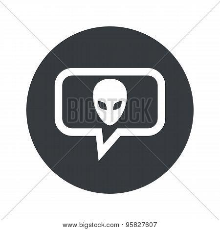 Round alien dialog icon