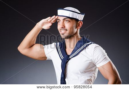 Funny sailor with cap and shirt