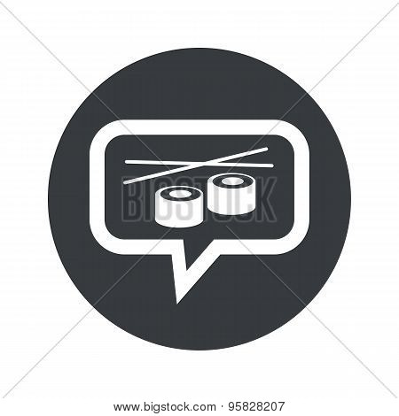 Round sushi dialog icon