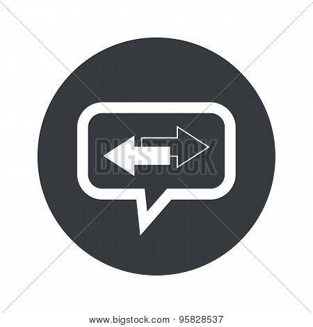Round opposite dialog icon