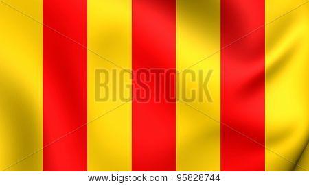 County Of Foix Flag, France.