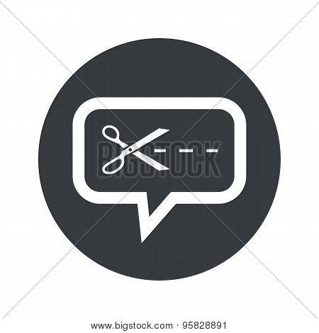 Round cut dialog icon