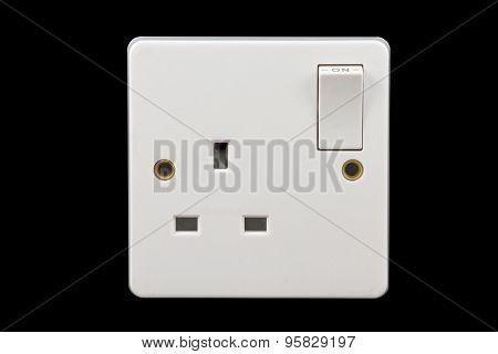 Uk Power Socket In On Position