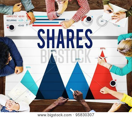 Shares Shareholder Contribution Dividend Concept