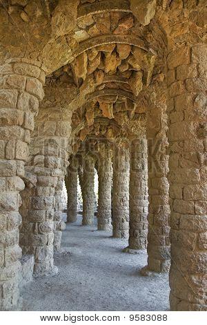 Park Guell Columns Barcelona