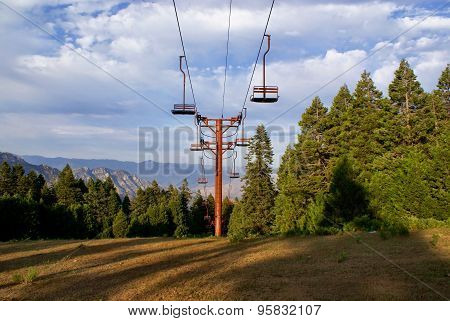 Ski Lift Up California Slopes in the Summer