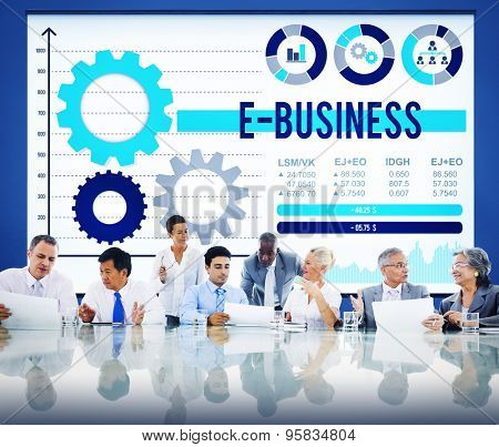 E-business Commercial Internet Global Link Concept