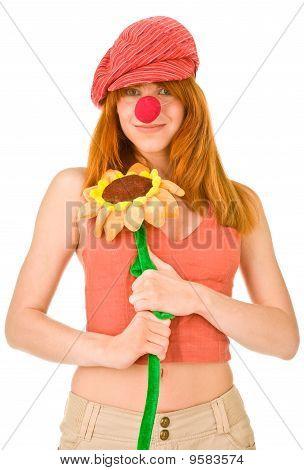 Smiling Clown Girl