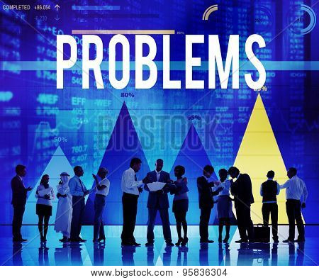 Problems Solving Problem Solution Trouble Concept