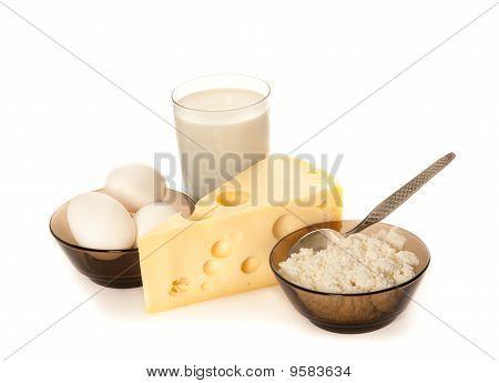 Ovos e produtos lácteos