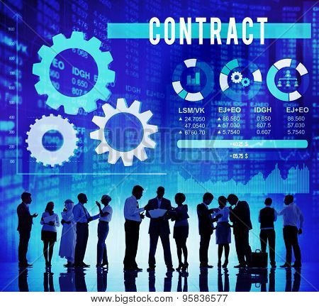 Contract Commitment Deal Barter Business Concept