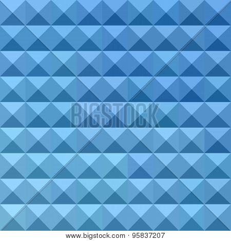 Cornflower Blue Abstract Low Polygon Background