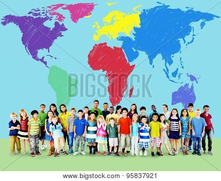 World Map Global International Globalization Concept