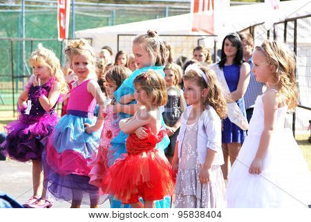 Preteen Girl Beauty Pageant At Festival South Africa