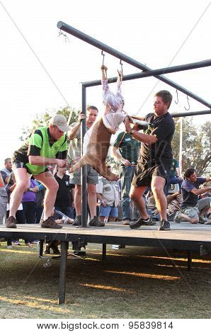 Traditional Deer Skinning Contest At Game Festival