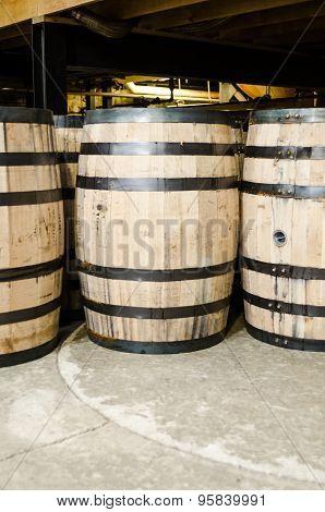 Side View Of Bourbon Barrel Vertical