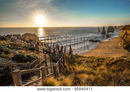 Tourists at Twelve Apostles