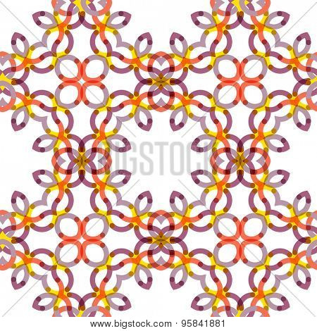 Seamless  geometric abstract pattern. Creative round shapes made of short lines. Modern background