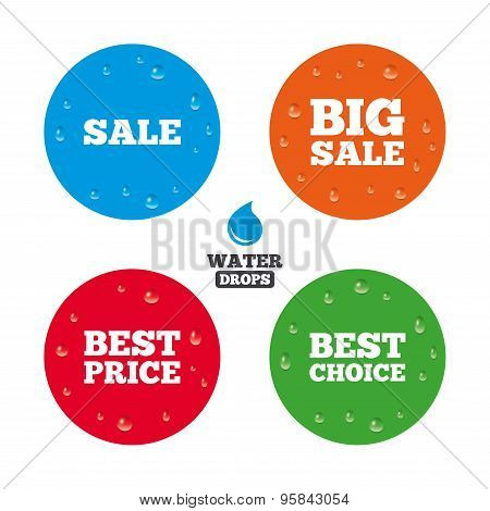 Sale icons. Best choice, price symbols