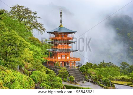 Nachi, Japan at Seigantoji Pagoda and Nachi Falls.