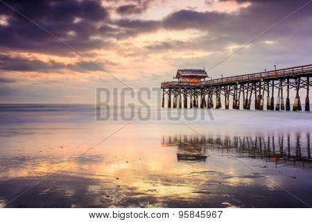 Cocoa Beach, Florida, USA at the pier.