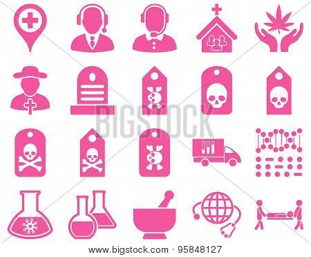 Medical Bicolor Flat Icon Set