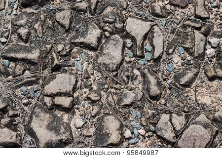Background Of Stones And Pebbles, Texture