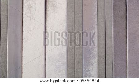 Close Up Silver Curtain Background