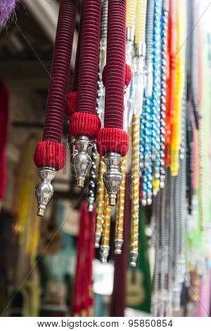 Hookahs at the Market in Acre, Israel