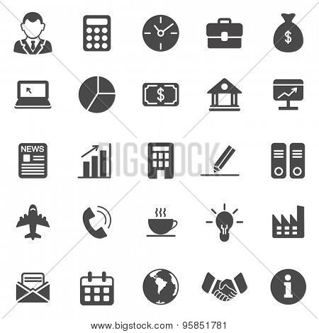 Business black icons set.Vector