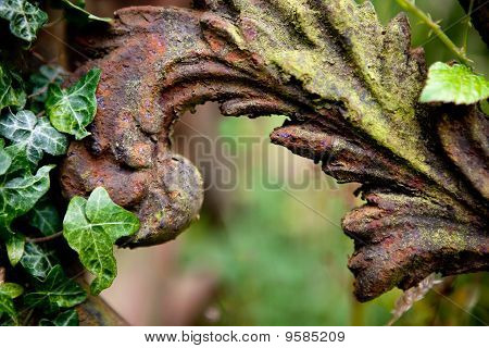 Rusty Grave Fence