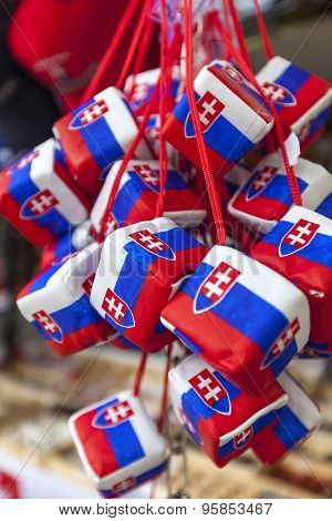 BRATISLAVA, SLOVAKIA - MAY 07 2013: Gift and souvenirs shop in Old town