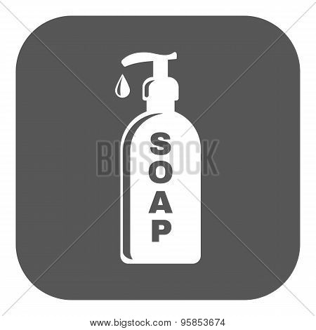 The Liquid Soap Icon. Hand Wash Symbol. Flat