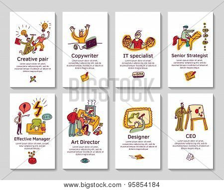 Creative business cards and banners