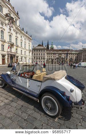 PRAGUE, CZECH REPUBLIC - MAY 08 2013: Parade The Prague Club of Historic Cars