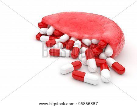 Hemoglobin Stuffed With Capsules
