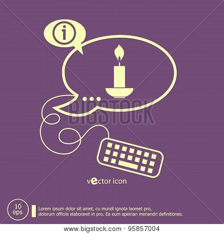 Candle And Keyboard Design Elements