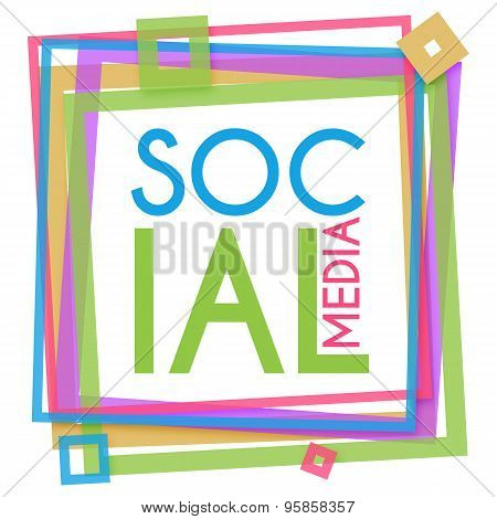 Social Media Colorful Frame