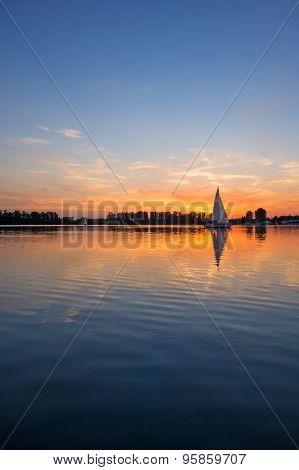Sunrise / Sunset At A Lake