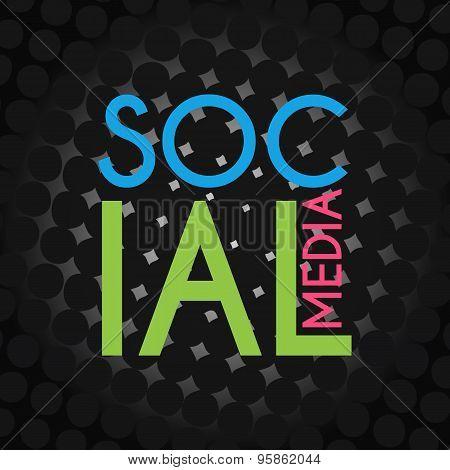 Social Media Black Halftone Background
