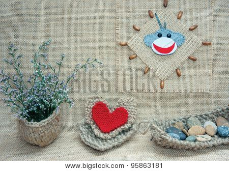Monkey, Happy New Year 2016, Time, Clock, Handmade