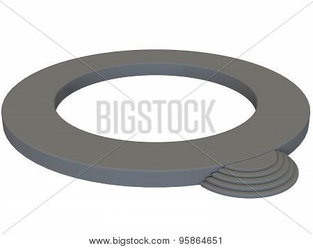 modern circular podium colored in gray