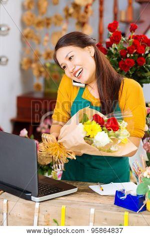 Chatting Saleswoman