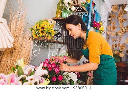 Working At Flower Shop