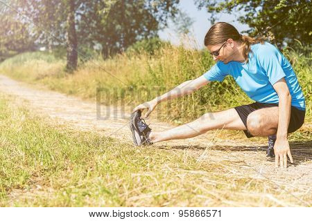 Jogger Stretching