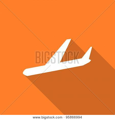 arrivals flat design modern icon with long shadow for web and mobile app