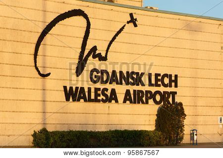 Promotional Logo Of Lech Valesa Airport
