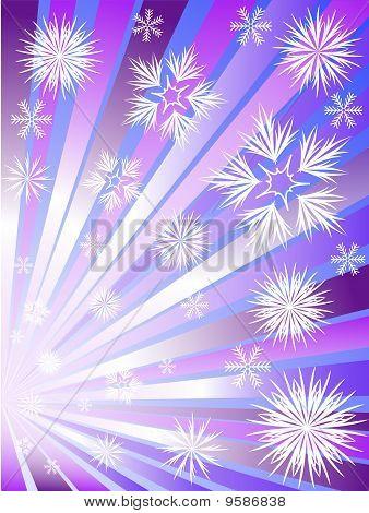 Fogos de artifício de flocos de neve